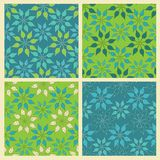 Set of vector seamless pattern with leaves Royalty Free Stock Photo