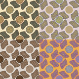 Set of vector seamless patterns Stock Photo