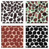 Set of vector seamless patterns with abstract stones. Creative different grunge  Royalty Free Stock Image