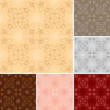 Set - vector seamless patterns for background Stock Photography