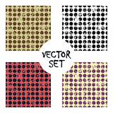 Set of vector seamless patterns Creative geometric backgrounds with lines, diagonal, circles, dots.Texture with attrition, cracks Royalty Free Stock Image