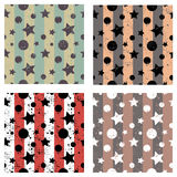 Set of vector seamless patterns Creative geometric backgrounds Royalty Free Stock Images