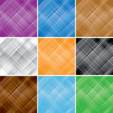 Set - vector seamless patterns with crossed lines Stock Photography