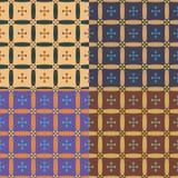 Set of vector seamless patterns Stock Photos