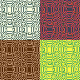 Set of vector seamless patterns Stock Image