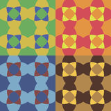 Set of vector seamless patterns Stock Images