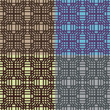 Set of vector seamless patterns Royalty Free Stock Photography