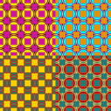 Set of vector seamless patterns Stock Photos
