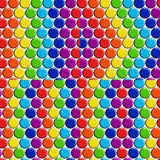 Set of vector seamless patterns with rainbow candy buttons. Stock Photography