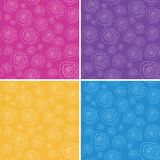 Set of vector seamless patterns with stylized hand Stock Images