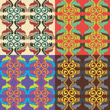 Set of vector seamless patterns Royalty Free Stock Photo