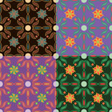 Set of vector seamless patterns Royalty Free Stock Photos