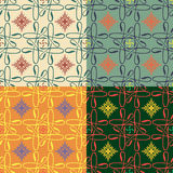 Set of vector seamless patterns Royalty Free Stock Images
