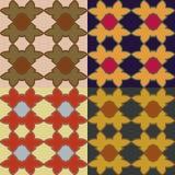 Set of vector seamless patternss Stock Photo