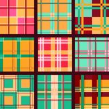 Set of vector seamless plaid patterns Royalty Free Stock Photography