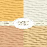 Set of vector seamless sand texture background. vector illustration