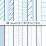 Set of vector seamless striped patterns. 20 seamless striped patterns in soft colors Royalty Free Stock Photography