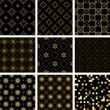 Set of vector seamless textures vector illustration