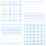 Set of 4 vector of seamless textures of notebook pages Royalty Free Stock Photos