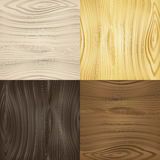 Set of vector seamless wood textures Stock Images