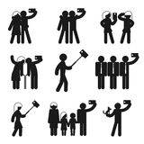 Set of vector selfie icons Stock Image