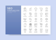 Set of Vector SEO Search Engine Optimisation Elements and Icons. Illustration can be used as Logo or Icon in premium quality Royalty Free Stock Image