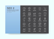 Set of Vector SEO Search Engine Optimisation Elements and Icons Royalty Free Stock Images