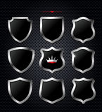 Set of vector shields Stock Photography