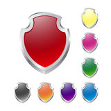 Set of vector shields on white Stock Photography