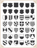 Set of vector shields Stock Photo