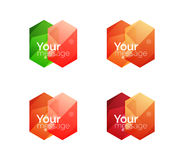 Set of vector shiny blank boxes for your content Stock Photography