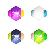 Set of vector shiny blank boxes for your content Stock Photos