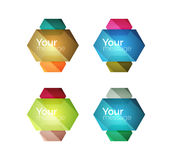 Set of vector shiny blank boxes for your content. Abstract geometric elements suitable for text or infographics Stock Image