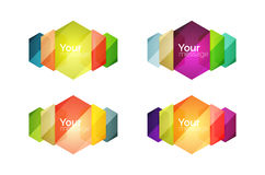 Set of vector shiny blank boxes for your content Stock Photo