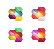 Set of vector shiny blank boxes for your content Stock Image