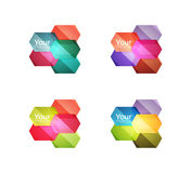 Set of vector shiny blank boxes for your content Royalty Free Stock Photo