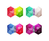 Set of vector shiny blank boxes for your content Royalty Free Stock Photos