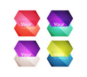 Set of vector shiny blank boxes for your content Royalty Free Stock Photography