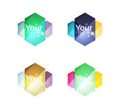 Set of vector shiny blank boxes for your content Royalty Free Stock Image