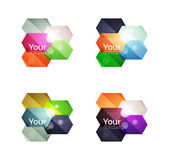 Set of vector shiny blank boxes for your content Stock Images