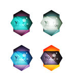 Set of vector shiny blank boxes for your content. Abstract geometric elements suitable for text or infographics Royalty Free Stock Photography
