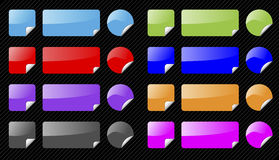 Set of vector shiny web elements. Royalty Free Stock Photos