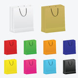 Set of vector shopping bags Stock Images