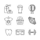 Set of vector shopping icons and concepts in sketch style Royalty Free Stock Photo