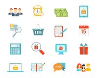 Set of vector shopping icons Stock Photo