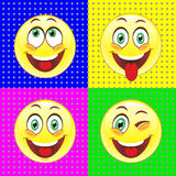 A set of vector signs depicting human emotion Stock Photo