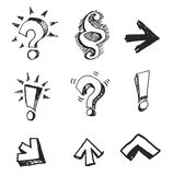 Set of vector signs. Questions and answers. Handwork vector signs. For designers Royalty Free Stock Photography