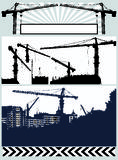 Set vector silhouette crane Stock Photo
