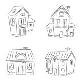 Set of vector sketches Royalty Free Stock Photography