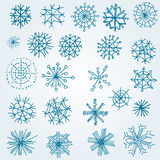 Set of vector snowflakes Royalty Free Stock Photo